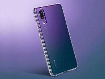 Силиконов гръб за Huawei P20, Прозрачен