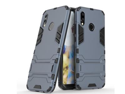 Удароустойчив Калъф с Поставка за Huawei P20 Lite, Тъмно син