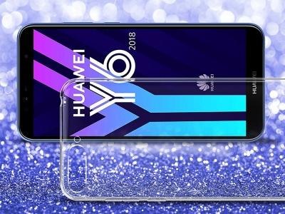 Силиконов гръб за Huawei Y6 2018, Прозрачен