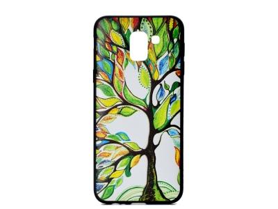 Силиконов Гръб Colored за Samsung Galaxy J6 2018, Пъстроцветно дърво