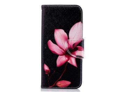 Калъф Тефтер за Samsung Galaxy J6 2018, Розово цвете