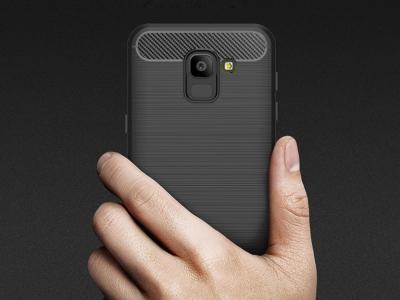 Силиконов гръб Carbon за  Samsung J6 2018, Черен