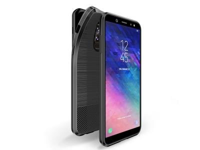 Силиконов гръб MOJO за Samsung A6 Plus 2018, Черен