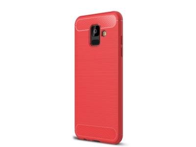 Силиконов гръб Carbon за  Samsung Galaxy A6 2018, Червен