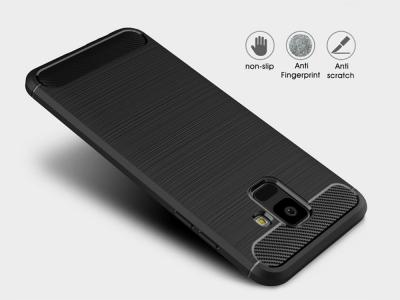 Силиконов гръб Carbon за  Samsung Galaxy A6 2018, Черен