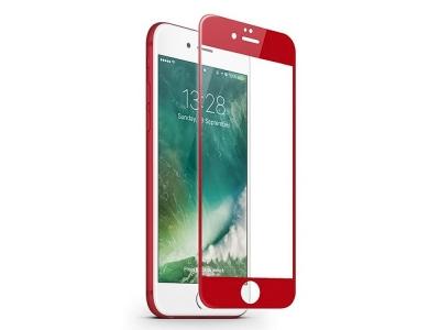 Стъклен протектор 5D Full Glue за Iphone 7 Plus / 8 Plus, Червен