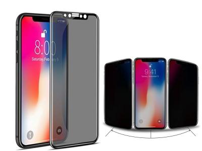 Стъклен протектор Privacy 5D Full Glue за iPhone X / XS / iPhone 11 Pro  , Черен