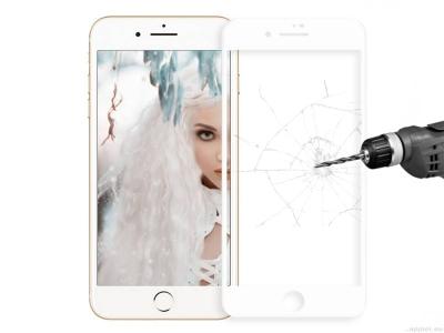 Стъклен протектор Roar 5D Full Glue за Iphone 7 / 8/ iPhone SE 2020, Бял