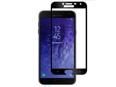 Стъклен Протектор Full Glue 5D за Samsung Galaxy J4 2018, Черен