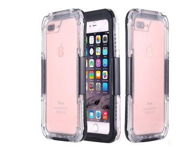 Водоустойчив калъф Waterproof за iPhone 7 Plus / 8 Plus, Черен