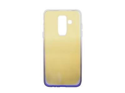 Силиконов гръб OMBRE BLUERAY за Samsung Galaxy A6  Plus 2018, Лилав / Златист