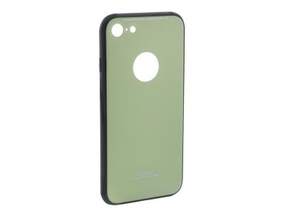 Стъклен гръб със силиконова лайстна Glass за iPhone 7 / iPhone 8 / iPhone SE 2020(4.7), Светло зелен