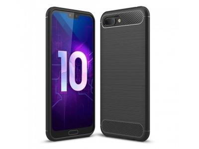 Силиконов гръб Carbon за Huawei Honor 10, Черен