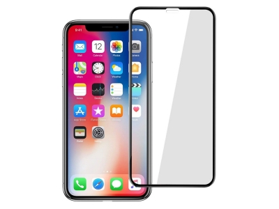 Стъклен протектор 5D Full Glue за Iphone XS Max / iPhone 11 Pro Max, Черен