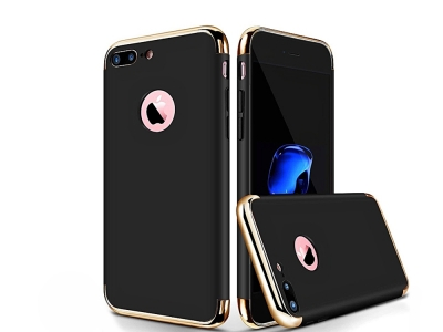 Пластмасов гръб IPAKY 3 in 1 за iPhone 7 Plus / 8 Plus, Черен