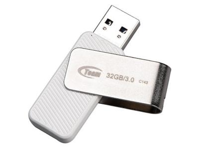USB Флаш памет 32GB TEAM C143, Бял