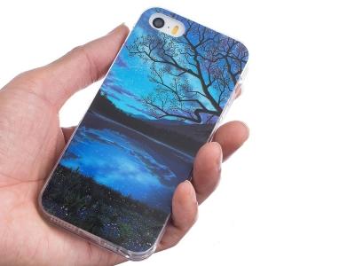 Силиконов Гръб за iPhone 5 / 5S / SE, Нощ
