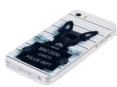 Силиконов Гръб за iPhone SE/5s/5, Лошо куче