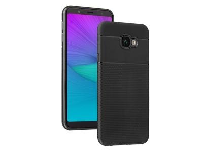 Силиконов Гръб Triangle за Samsung Galaxy J4 Plus, Черен