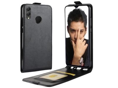 Калъф Тефтер Crazy Horse за Huawei Honor 8X , Черен