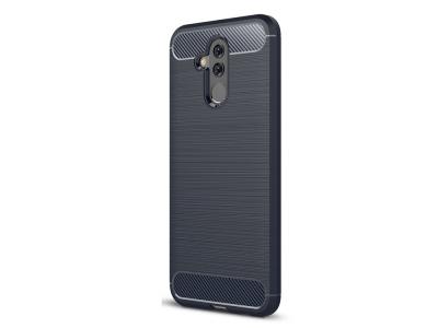 Силиконов гръб Carbon за Huawei Mate 20 Lite, Тъмно син