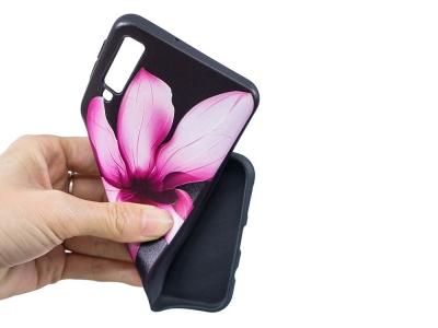 Силиконов Гръб за Samsung Galaxy A7 (2018) A750, Розово цвете