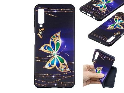 Силиконов Гръб за Samsung Galaxy A7 (2018) A750, Златна пеперуда