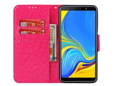 Калъф Тефтер за Samsung Galaxy  A7 (2018) A750, Розов