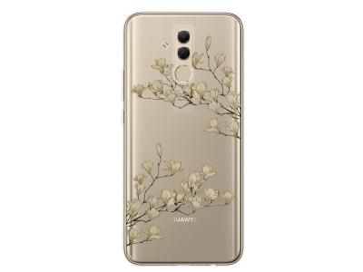 Силиконов Гръб Floral за Huawei Mate 20 Lite, Магнолия