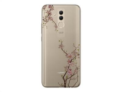 Силиконов Гръб Floral за Huawei Mate 20 Lite, Череша