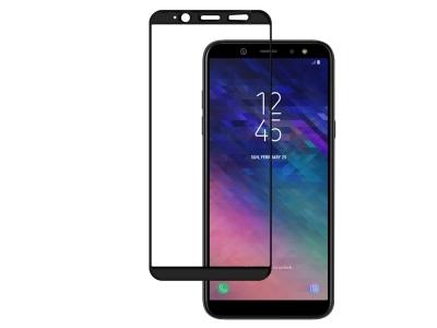 Стъклен Протектор 5D Full Glue за Samsung Galaxy A6 2018 A600 , Черен