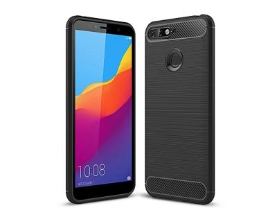 Силиконов гръб Carbon за Huawei Y6 2018 / Y6 Prime 2018, Черен