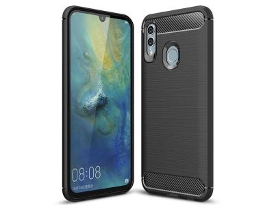 Силиконов гръб Carbon за Huawei P Smart 2019 / Honor 10 Lite, Черен