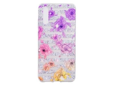 Силиконов гръб за Huawei P20 Pro, Лилави цветя