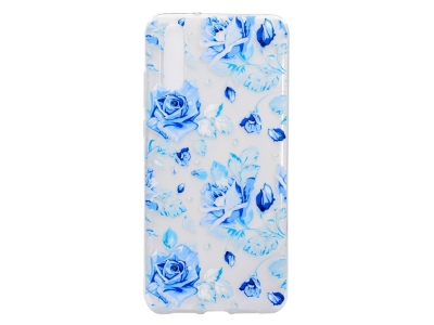 Силиконов Гръб за Huawei P20 Pro, Сини цветя