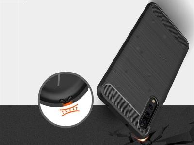 Силиконов гръб Carbon за Huawei P20 Pro, Черен