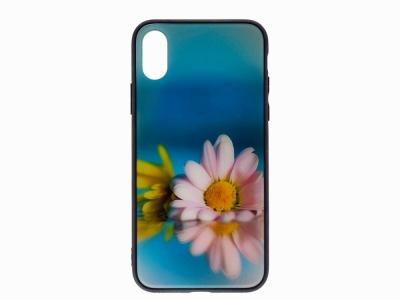 Калъф Гръб Glass за iPhone X / XS, Маргаритка