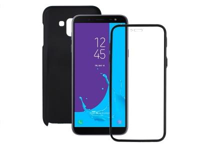 360 Градуса Калъф за Samsung Galaxy J6 2018 J600, Черен