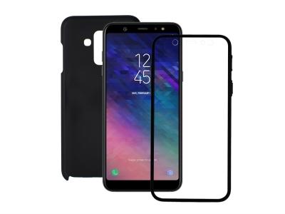360 Градуса Калъф за Samsung Galaxy A6 Plus 2018, Черен