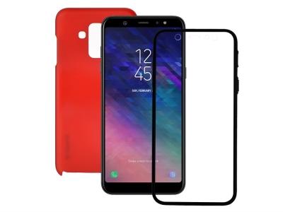 360 Градуса Калъф за Samsung Galaxy A6 Plus 2018, Червен