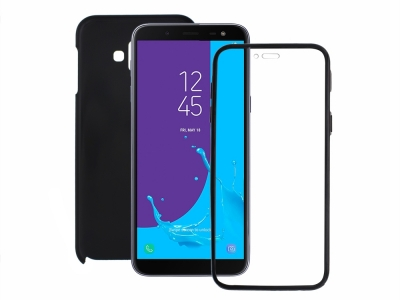 360 Градуса Калъф за Samsung Galaxy J6 Plus, Черен