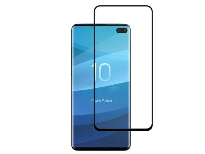 Удароустойчив Протектор 5D Full Nano за Samsung Galaxy S10 Plus, Черен