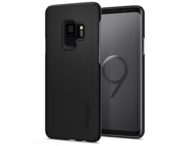 Пластмасов гръб Spigen за Samsung Galaxy S9, Черен