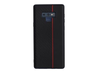 Удароустойчив гръб Moto Carbon за Samsung Galaxy Note 9 (N960), Черен/ Червен