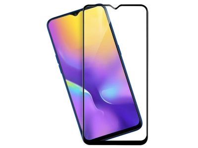 Стъклен протектор 3D Full за Samsung Galaxy M20, Черен