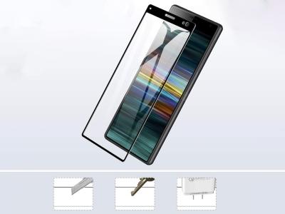 Стъклен протектор Full Glue за Sony Xperia 10, Черен