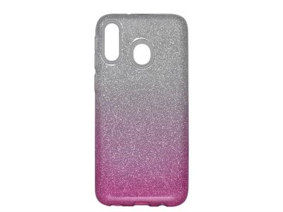 Силиконов Гръб SHINING за Samsung Galaxy M20, Сребрист/ Розов