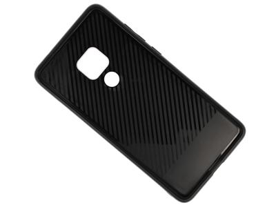 Стъклен гръб със силиконова лайстна Glass за Huawei Mate 20, Розов