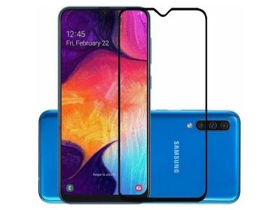 Стъклен Протектор 5D Full Glue за Samsung Galaxy A30, Черен