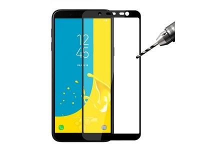 Стъклен Протектор Full Glue 5D за Samsung Galaxy J6 (J600), Черен